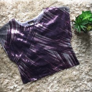 Purple sequined blouse